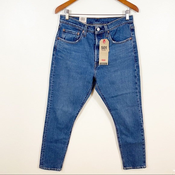 LEVIS 501 Skinny High Rise Jean Mid Wash 30 NWT